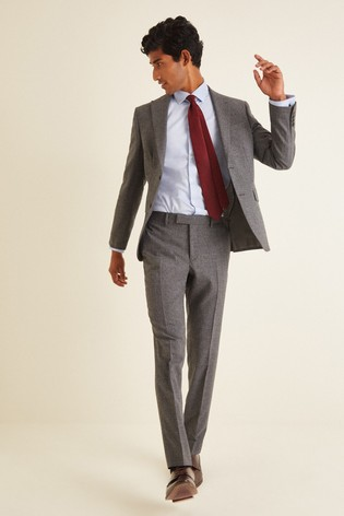 DKNY Grey Slim Fit Texture Jacket