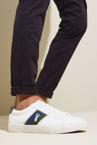 Buy White Stripe Trainers from Next Ireland