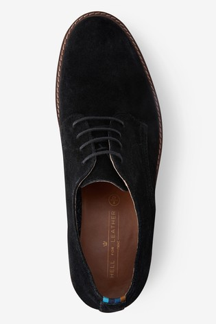 Buy Black Suede Derby Shoes from Next USA