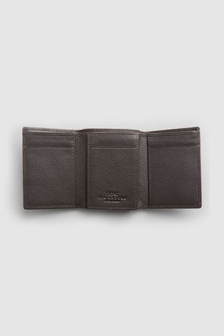 Brown Signature Italian Leather Extra Capacity Trifold Wallet