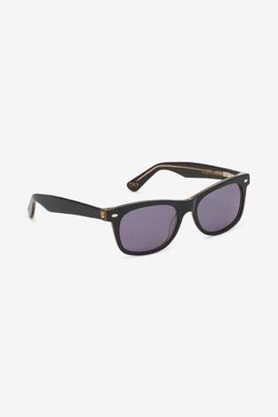 Black Signature Acetate Sunglasses