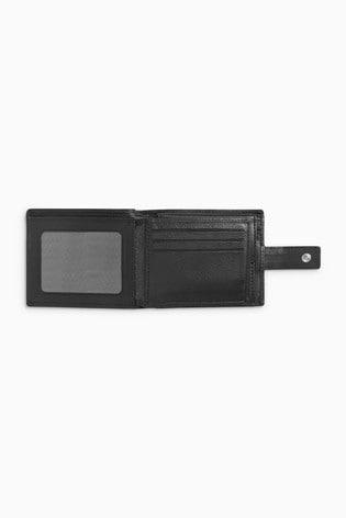 Black Signature Italian Leather Extra Capacity Wallet