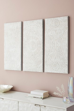 Set of 3 Tile Effect Canvases