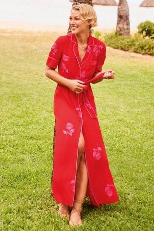 Red/Pink Emma Willis Printed Shirt Dress