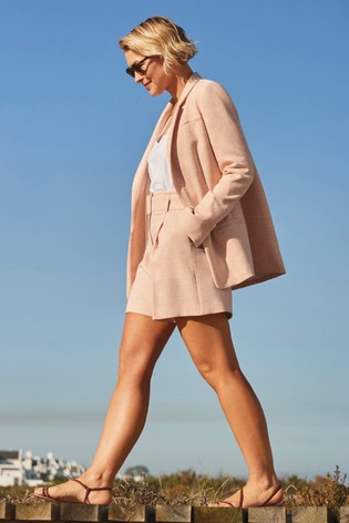 Peach Emma Willis Belted Shorts