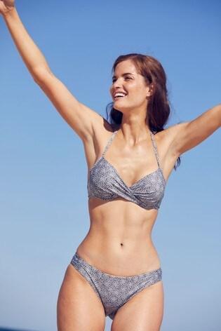 Charcoal Padded Underwired Bikini Top