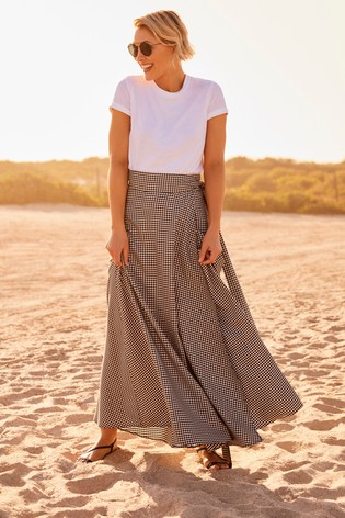 Gingham Emma Willis Wrap Skirt