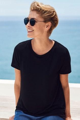 Black Emma Willis Basic T-Shirt