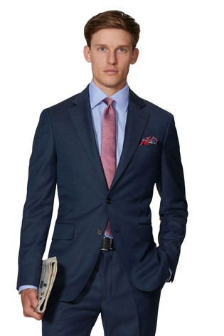 T.M. Lewin Maxwell Navy Slim Fit Infinity Suit Jacket