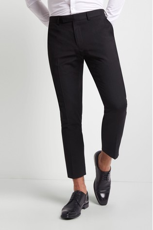 Moss London Skinny Fit Machine Washable Cropped Trousers