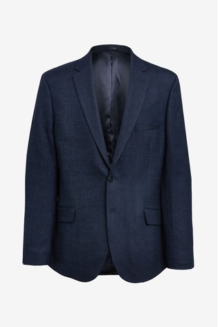 Moss London Skinny/Slim Fit Blue Twisted Jacket