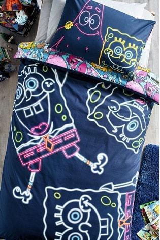Glow In The Dark SpongeBob SquarePants Duvet Cover And Pillowcase Set