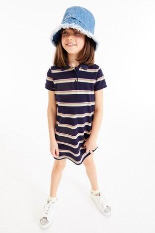 Rainbow Polo Stripe Dress (3-16yrs)