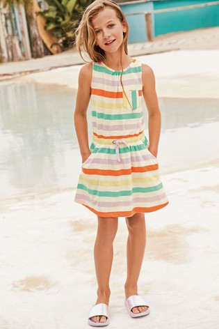 Fluro Stripe Twist Back Dress (3-16yrs)