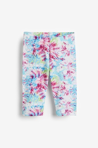 Pink Tie Dye 1 Pack Cropped Leggings (3-16yrs)