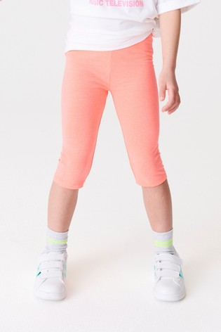 Fluro Pink 1 Pack Cropped Leggings (3-16yrs)