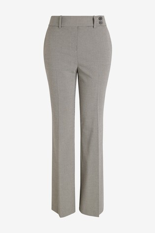 Neutral Check Tailored Boot Cut Trousers