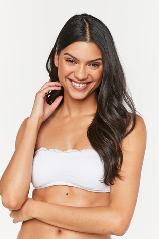Black/White Jamie Lace Bandeau Bras Two Pack