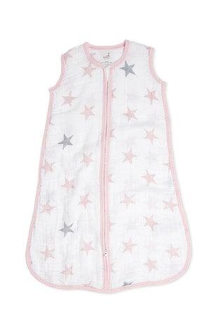 aden + anais Essentials Pink 1.0 Tog Summer Sleeping Bag