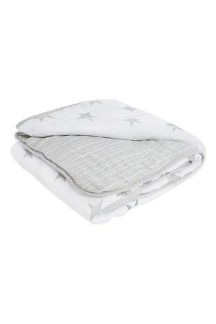 aden + anais Essentials Grey Muslin Dream Blanket