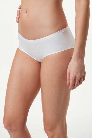 White Short 360° Stretch Maternity Knickers