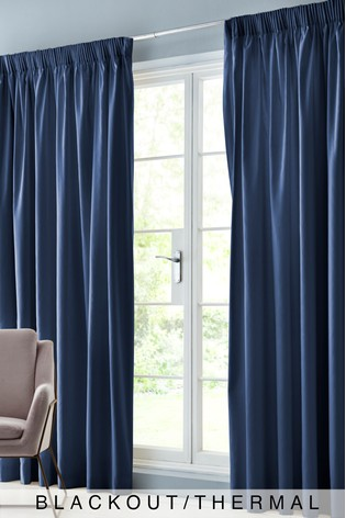 Cotton Pencil Pleat Blackout/Thermal Curtains