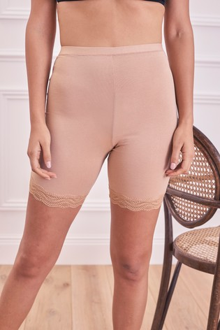 Nude Cotton Rich Anti-Chafing Shorts