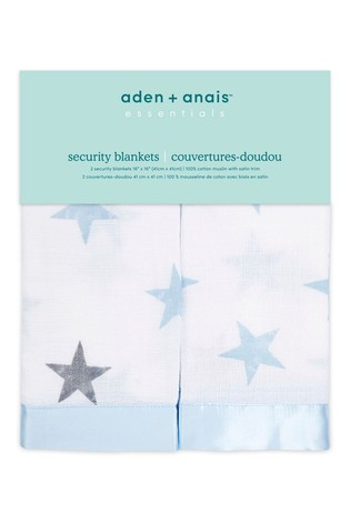 aden + anais Essentials Blue Security Blankets Two Pack