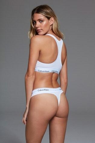 Calvin Klein White Logo Thong
