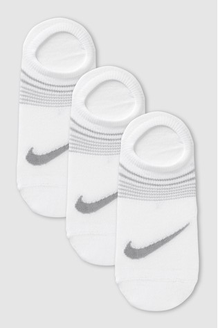 Nike Ladies White Footsie Invisible Socks Three Pack
