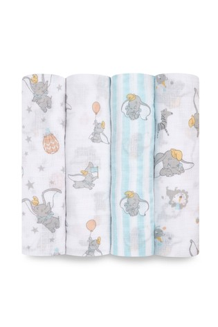aden + anais Essentials Muslin Swaddle Blankets 4 Pack