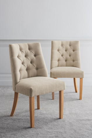 Set Of 2 Wolton Buttoned Dining Chairs