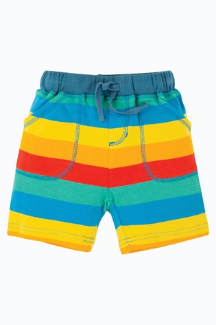 Frugi GOTS Organic Rainbow Stripe Shorts