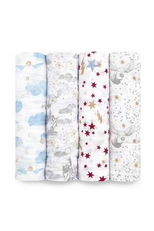 aden + anais Harry Potter Iconic Large Swaddles Four Pack
