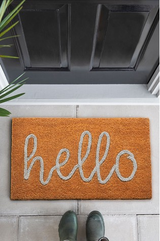 Braided Hello Doormat