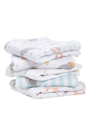 aden + anais Essentials Disney Dumbo New Heights Muslin Squares 5 Pack