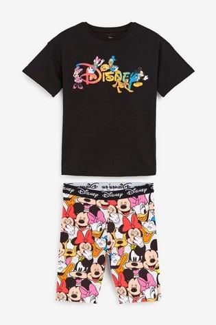 Black Disney™ Short Pyjamas (3-16yrs)