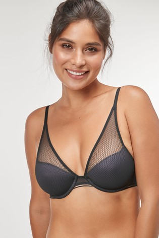 Triumph® Black Infinite Sensation Wired Half Cup Padded Bra