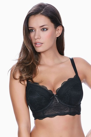 Freya Fancies Black Longline Bra