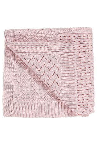 Pink Knitted Blanket (Newborn)