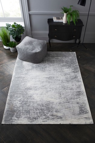 Graphite Abstract Rug