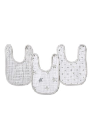 aden + anais Essentials Grey Snap Bibs Three Pack