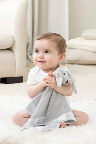 aden + anais Essentials Grey Lovey Muslin Comforter