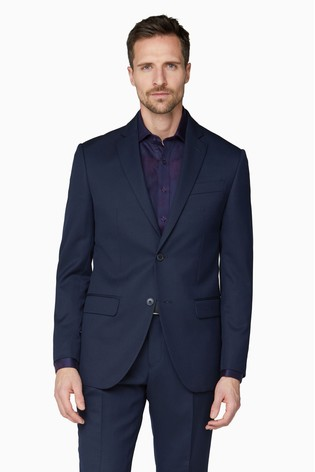 Jeff Banks Blue Soho Regular Fit Suit Jacket