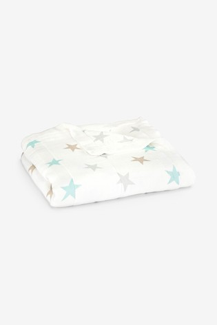 aden + anais White Silky Soft Dream Blanket