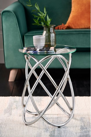 Orbit Chrome Side Table / Bedside