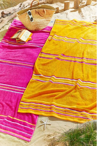 Set of 2 Rainbow Jaquard Beach Towels by Catherine Lansfield