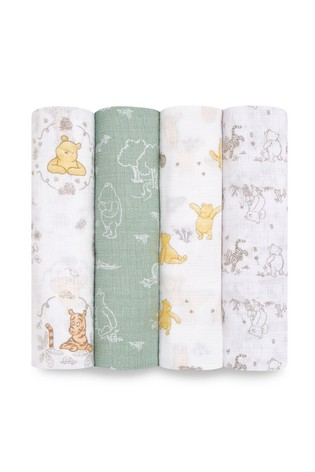 aden + anais Essentials Muslin Swaddle Winnie & Friends Blanket 4 Pack
