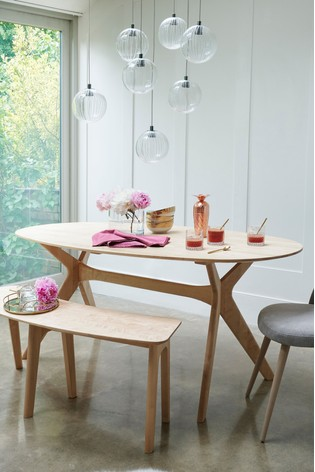 Oval Skandi 6 Seater Dining Table