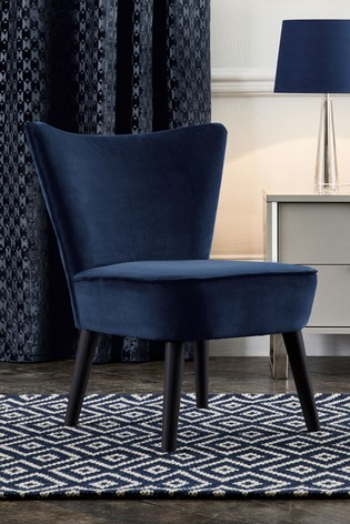 Ella Quilted Accent Chair With Black Legs